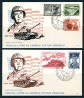 BE   FDC  1032 - 1036   ---  Mémorial Général Patton   --  TTB - 1951-60