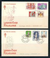 BE   FDC  1039 - 1045   ---   Antituberculeux : Folklore 1   --  TTB - 1951-60