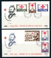 BE   FDC  1096 - 1101  ---   Croix Rouge Solférino 1859 - Henri Dunant  --  TTB - 1951-60