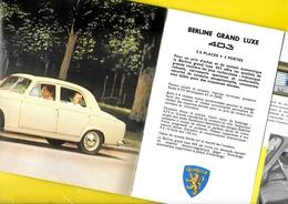 """Publicité """"PEUGEOT"""" 403 De 1959 8 Pages Format A4 Env. - Motos"""