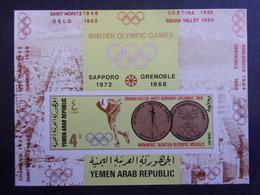 YEMEN JEMEN YAR MI-NR BLOC 74B MNH/NEUF** OLYMPIC GOLD MEDALS - Winter 1968: Grenoble