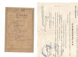 Fromelles- Cousin Alphonse-incorporation Et Démobilisation - Guerre 1914-18