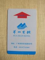 Huashan Hotel, Guangzhou China,edge Damaged - Hotelkarten