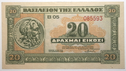 Grèce - 20 Drachmai - 1940 - PICK 315 - SPL - Griechenland