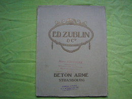 Catalogue Pub Ed Zublin & Cie Béton Armé Strasbourg 42 Pages - Publicités