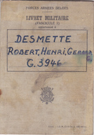 Forces Armées Belge  Livret Militaire (fascicule 1) - Collections