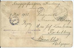 Kriegsgefangenensendung Van SOLTAU Naar Koekelberg Met Kampcensuur 1918 - Guerra '14-'18