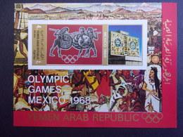 YEMEN JEMEN YAR MI-NR BLOC 77 MNH/NEUF** OLYMPIC MEXICO 1968 - Yemen