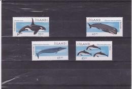 ISLANDE : Cétacés : Y&T : 858** à 861** - 1944-... Republiek