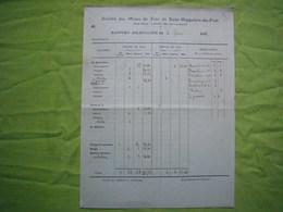 Rapport 1913 Sté Des Mines De Zinc St Hippolyte Du Fort - 1900 – 1949