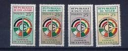 """Grandes Séries Pays Expression Françaises YT """" Conseil De L'Entente, 4 Valeurs """" 1960 Neuf** - Sonstige - Afrika"""