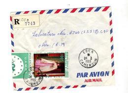 Lettre Recommandée Edea Sur Philexafrique - Cameroon (1960-...)