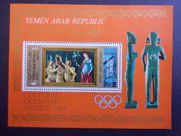 YEMEN JEMEN YAR MI-NR BLOC 94 MNH/NEUF** OLYMPIC MEXICO 1968 BOTICELLI - Yemen
