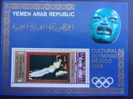 YEMEN JEMEN YAR MI-NR BLOC 96 MNH/NEUF** OLYMPIC MEXICO 1968 GOYA - Yemen