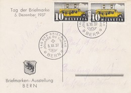 Suisse - Année 1937 - Oblitéré  05/12/1937 - Journée Du Timbre 1937, Briefmarken-Ausstellung BERN - Cote 100CHF - Switzerland
