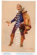 MALVOLIO TWELFTH NIGHT OLD LITERARY ART COLOUR POSTCARD  ARTIST SIGNED MARJORIE C. BATES - Other Illustrators