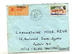 Lettre Recommandée Dabou Sur Assinie - Ivory Coast (1960-...)