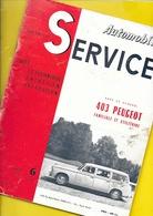 Notice Technique 1957 PEUGEOT 403 Familiale Et Utilitaire  56 Pages + Couverture Format A4 Env. - Voitures