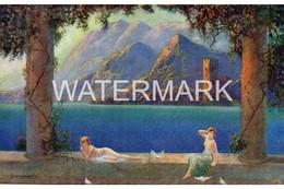 TUCK OILETTE DE LUXE NO 3800 OLD GLAMOUR ART COLOUR POSTCARD  ARTIST SIGNED JEAN LASALLE - Other Illustrators