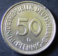 """Germany - 1975 - 50 Pfennig - Mintmark """"D"""" - Munich - KM 109.2 - VF/F - Look Scans - [ 7] 1949-… : RFA - Rep. Fed. Alemana"""