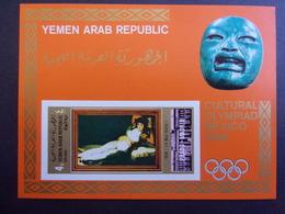 YEMEN JEMEN YAR MI-NR BLOC 97 MNH/NEUF** OLYMPIC MEXICO 1968 GOYA - Yemen