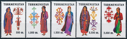 Mi 66-70 MNH ** Traditional Folk Costumes Trachten - Turkmenistan