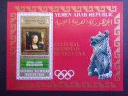 YEMEN JEMEN YAR MI-NR BLOC 111 MNH/NEUF** OLYMPIC MEXICO 1968 DE VINCI - Yemen