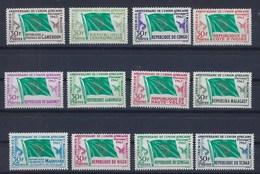"""Grandes Séries Pays Expression Françaises YT """" Union Africaine Et Malgache, 12 Valeurs """" 1962 Neuf** - Sonstige - Afrika"""