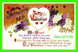 SAINT-VALENTIN - FEBRUARY 14th - TO MY VALENTINE - EMBOSSED - B. B. LONDON SERIES - - Saint-Valentin