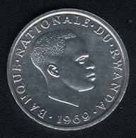 Ruanda, 1 Franc 1969, UNC - Rwanda