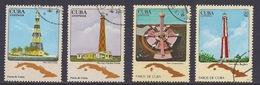 Cuba - 1982 - 1983 Lighthouses, Faro, Leuchtturm, Map Faros De Cuba - Used - Usados