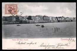 TARANTO - 1902 - VEDUTA DAL MARE GRANDE - Taranto