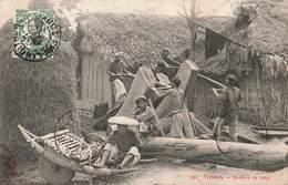 Viet Nam Tonkin Scieurs De Long Scieur De Bois Scierie + Timbre Indochine Vietnam - Vietnam