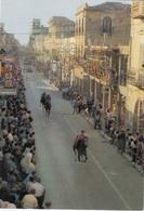 MENFI-AGRIGENTO-CORSA A CAVALLI-CARTOLINA VERA FOTOGRAFIA VIAGGIATA IL 29-7-1986 - Agrigento