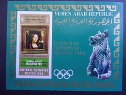 YEMEN JEMEN YAR MI-NR BLOC 112 MNH/NEUF** OLYMPIC MEXICO 1968 DE VINCI - Yemen