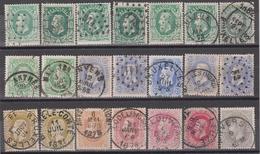 Ensemble N° 30-31-32-33-34-35 Obl. 21x - 1869-1883 Leopold II