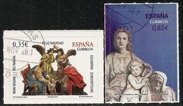 2011-ED. 4675 Y 4676-NAVIDAD SERIE COMPLETA.PRIMEROS PASOS DE JESUS Y ADORACIÓN AL NIÑO DE J.CARRERO-USADO - 1931-Oggi: 2. Rep. - ... Juan Carlos I