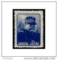 France WWI General Joffre - Blue Vignette Military Heritage Poster Stamp - Militair