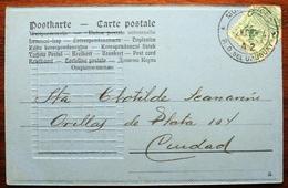 CPA Post Card Circulada 1904 En Montevideo Flower Ladies Chest Lighthouse - Uruguay