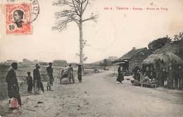 Viet Nam Tonkin Sontay Route De Tong + Timbre Indochine Vietnam - Viêt-Nam