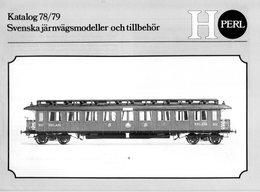 Catalogue PERL Modell 1978/79 Katalog Svenska Järnvägsmodeller - Boeken En Tijdschriften