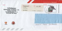 Postal Stationery Envelope , Used ,  Pombo Das Rochas , Pigeon - Postal Stationery
