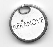 Jeton De Caddie  Marque  Cosmétiques  KERANOVE  Verso  SOINS  DERMO - CAPILLAIRES - Trolley Token/Shopping Trolley Chip