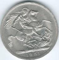 United Kingdom / Great Britain - 1951 - 5 Shillings - George VI - Festival Of Britain - KM880 - 1902-1971 : Monete Post-Vittoriane