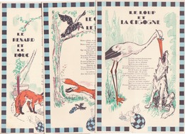Lustucru- Fables De La Fontaine Illustrées Par Touchet - Publicités