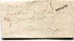 Belgique Precurseur Griffe Noire BRUGES-BXL 1753 Taxée 3 Avec Texte - 1714-1794 (Pays-Bas Autrichiens)