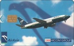 Malaysia  Chip Phonecard   Airline Flugzeug Air Asia - Airplanes