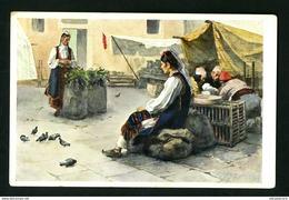 DUBROVNIK RAGUSA TRG  CROATIA  1900s NACIONAL COSTUME - Croatia