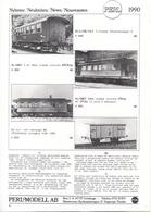 Catalogue PERL MODELL AB 1990 Neuheiteen Brass Laiton - En Suédois, Allemand, Anglais Et Français - Boeken En Tijdschriften