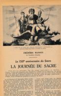 1954 : Document, NAPOLÉON, LE SACRE, Voiture, Mgr Speroni, Le Pape, Attelage, Notre-Dame, Épée, Cothurnes, Aiguière... - Collections
